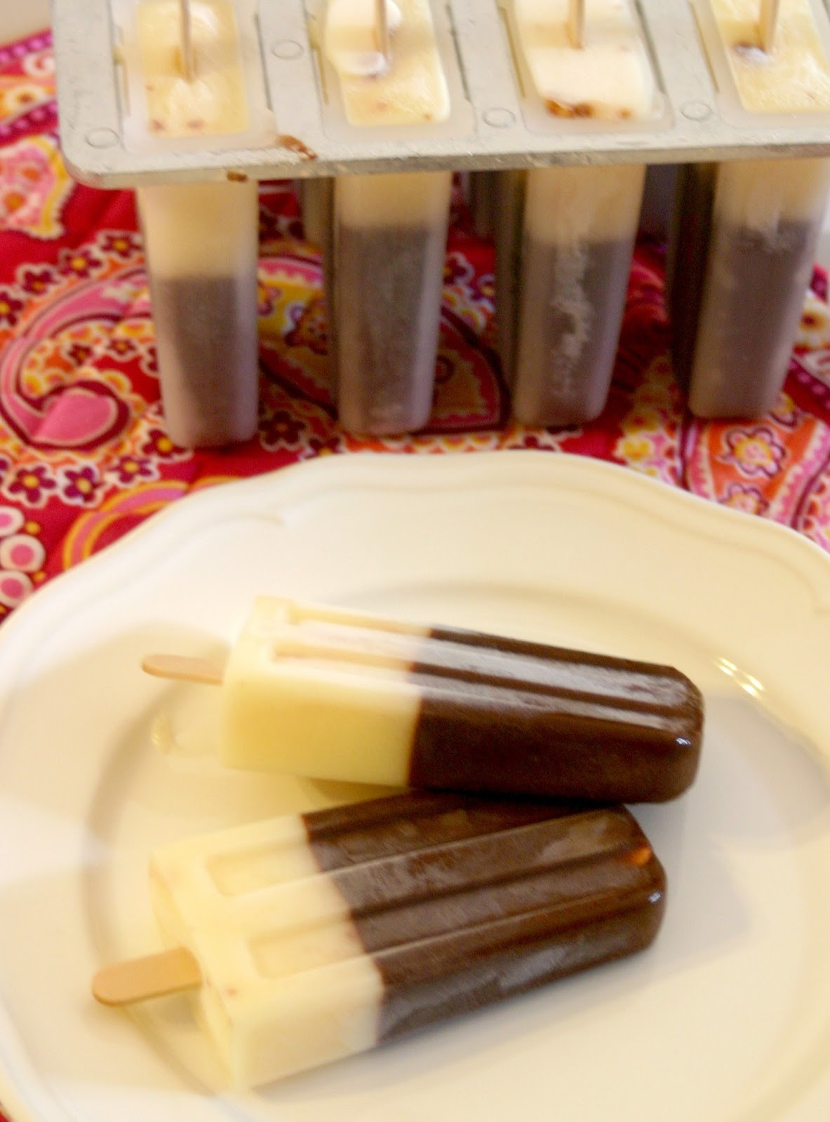 Crazy for Cookies and more: Chocolate Pudding Pops