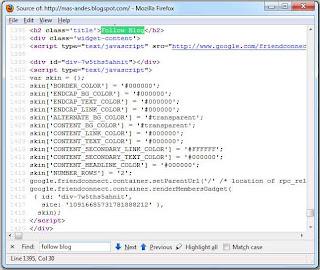 widget follower blog valid html5