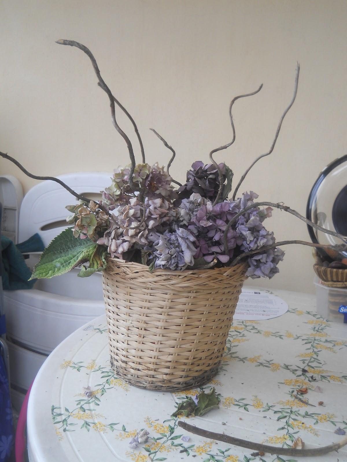 abbastanza BRICOLAGE: composizione di fiori secchi di ortensie | bricolage  TN26
