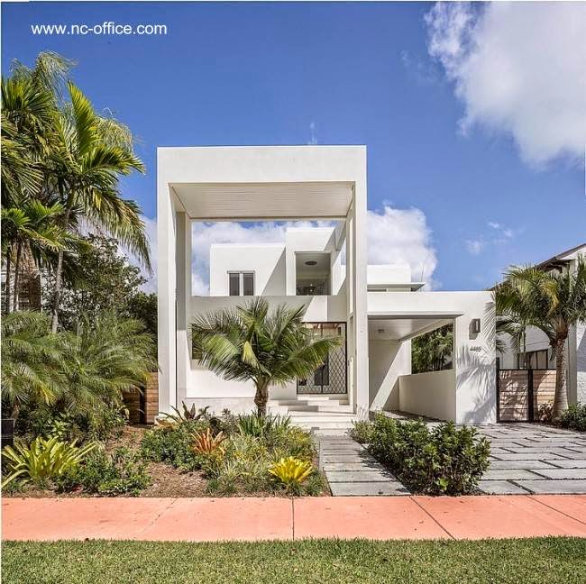 Casa residencial contemporánea de dos plantas en Miami Beach 2013