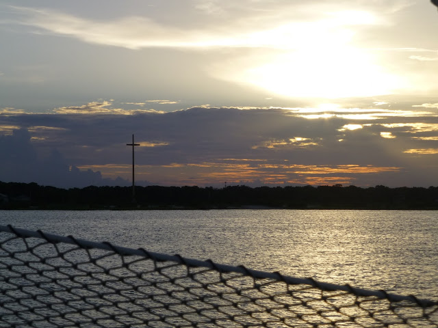 The Giant Cross. Sunset. Atlantic Ocean. St. Augustine. Florida