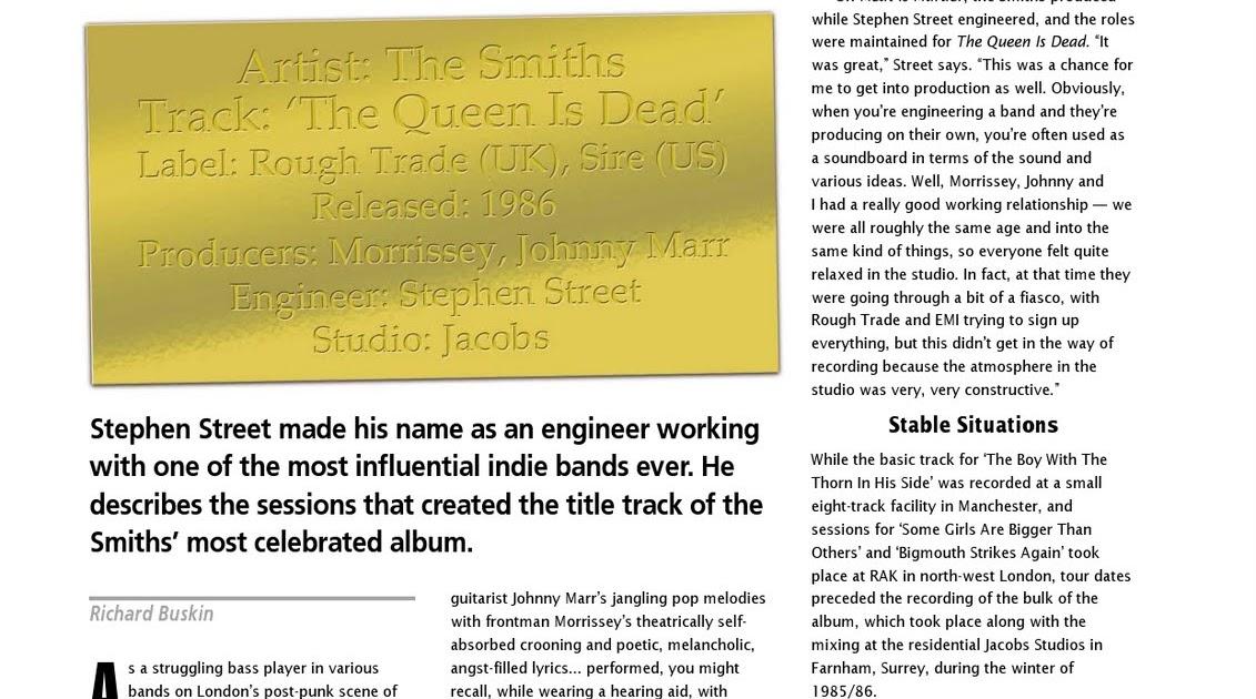Smiths On Guitar: Sound On Sound, January 2005
