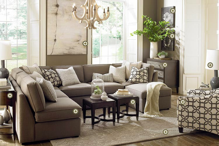 U-shaped Sectional Living Room Pictures