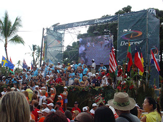 Finish line of Hawaii Ironman