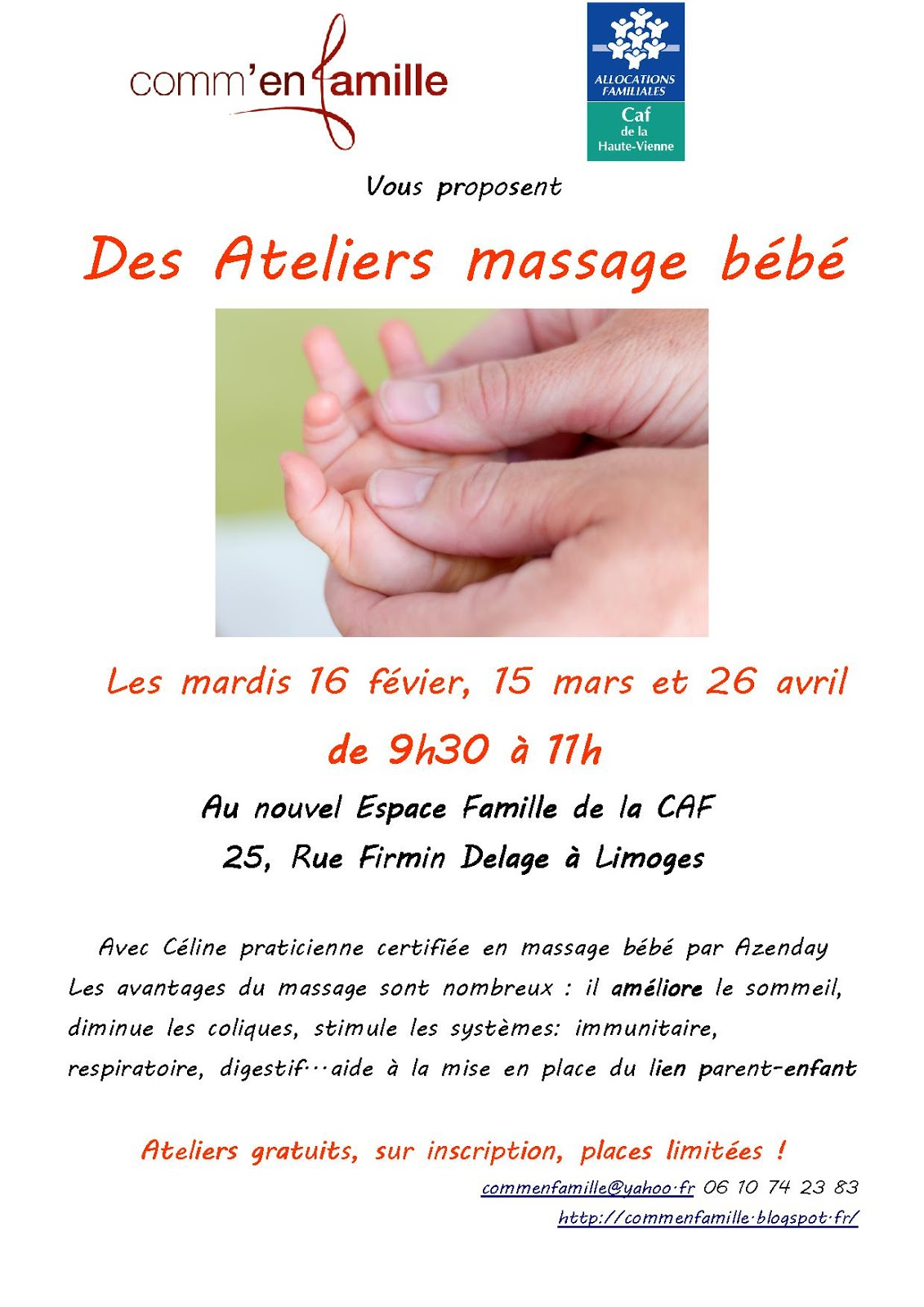 bb massage dates