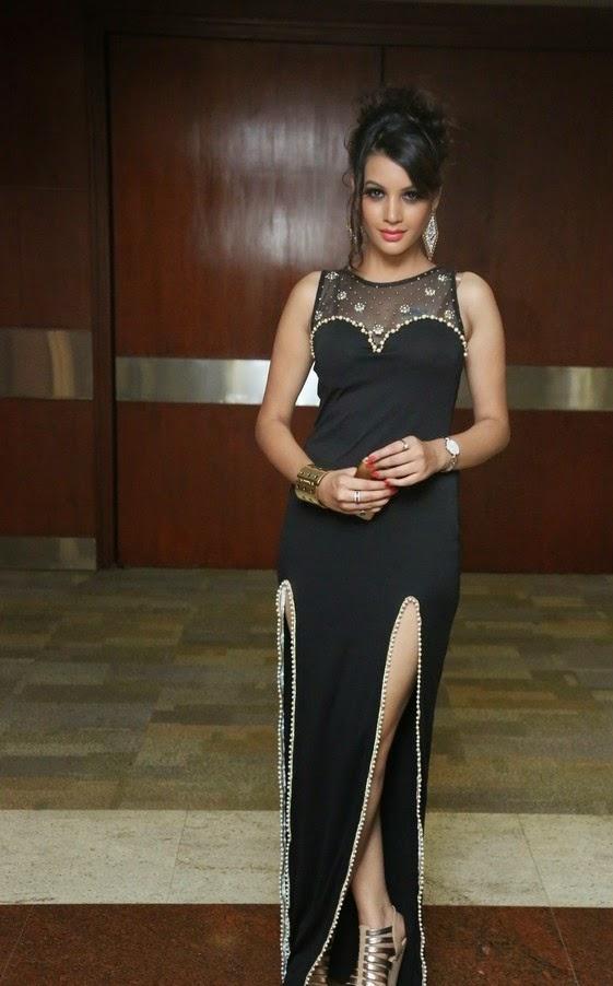 Deeksha Panth in Black Dress New Photoshoot Stills