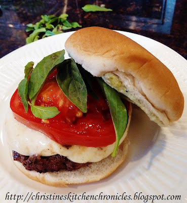 Caprese Burgers with Pesto Mayonnaise