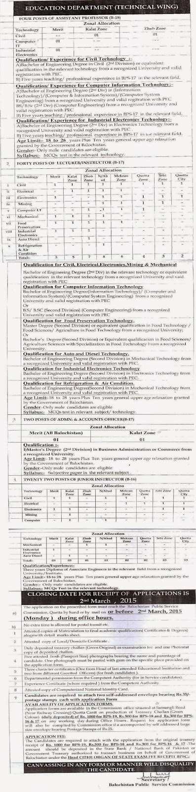 bpsc advertisement no 1-2015