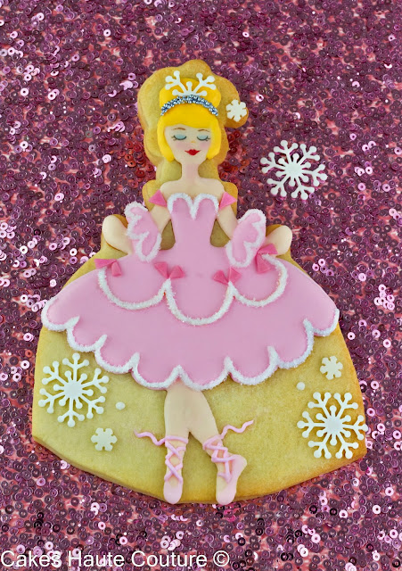 Nutcracker ballerina decorated cookie