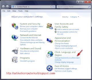 Cara install font arab dan setting bahasa arab di windows 7