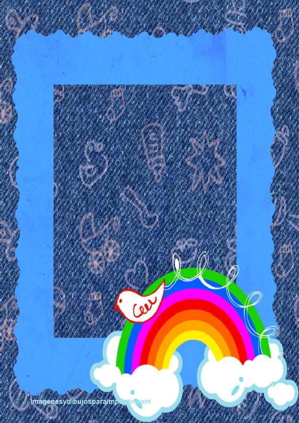 Marcos para imprimir para fotos de niños y niñas