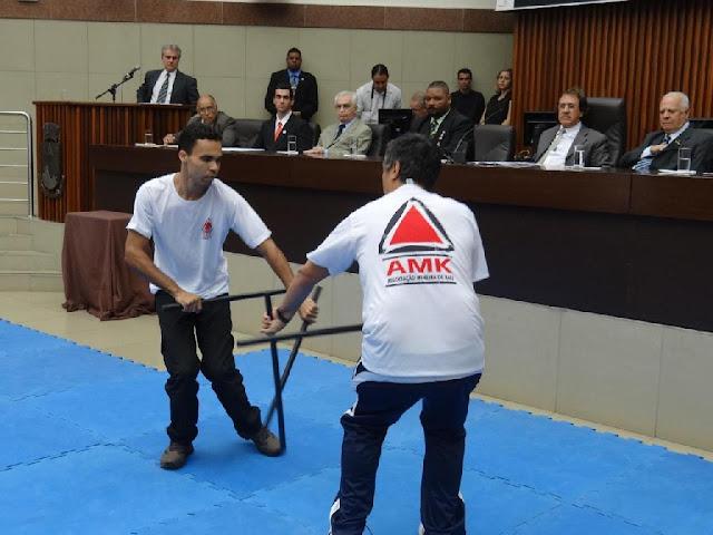 Demonstração Kali dois bastões