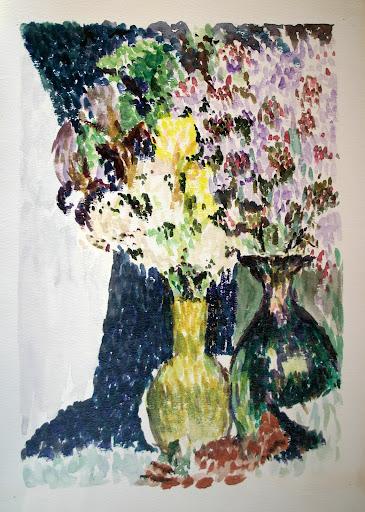 Commemorating The Art Of Richard Tudor Hibbert Flowers In Vases