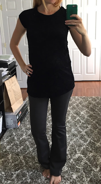 Full Moon - Dacey Lace Overlay Maternity Knit Top - Maternity Stitch Fix Review
