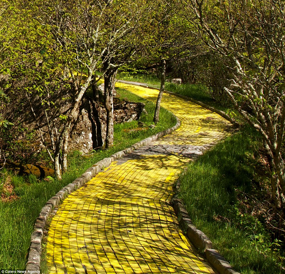 deserted places follow the yellow brick road of the