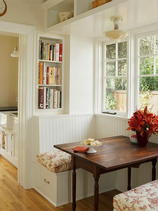 Modern Furniture: 2014 Comfort Breakfast Nook Decorating Ideas
