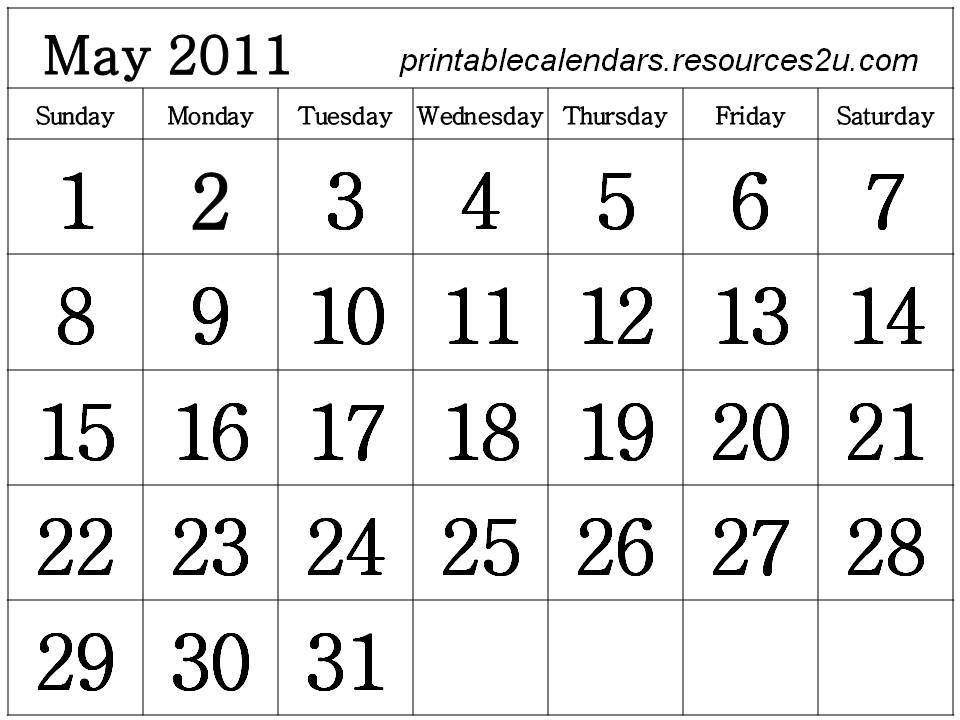 free may 2011 calendar template. Free May 2011 Calendar