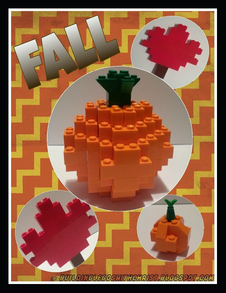 LEGO Fall Pumpkin & Leaf