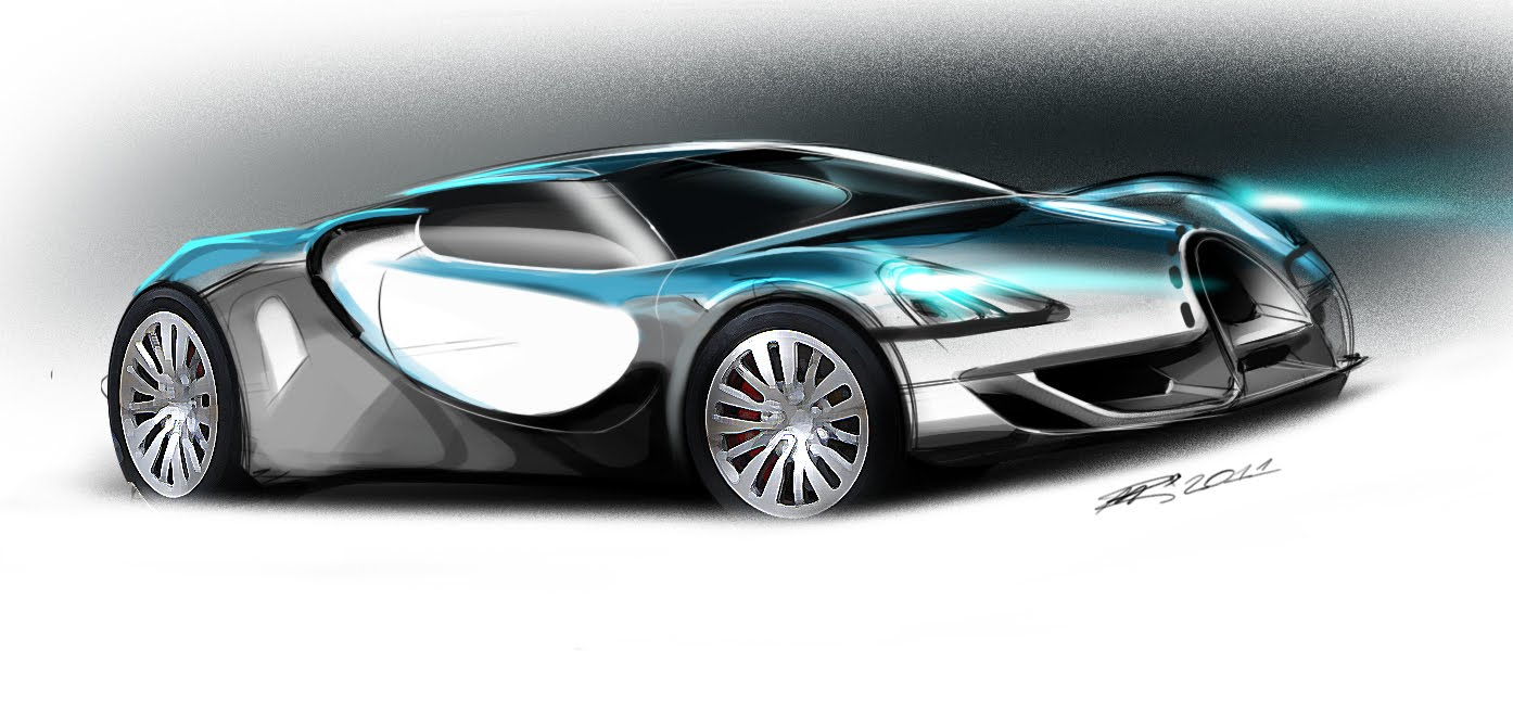 Bugatti Sketches, Various Artist | sketsa mobil Bugatti Renaissance Concept