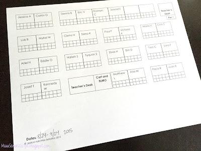 Editable Seating Chart