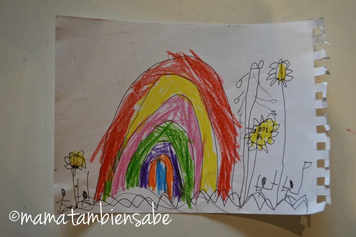 dibujo niño de 4 años