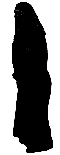 burkha woman in silhouette