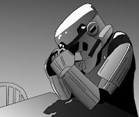 web meme of black and white sad trooper
