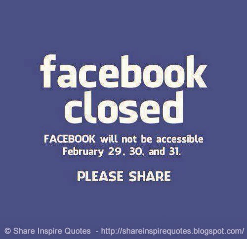 facebook closed facebook will not be accessible february