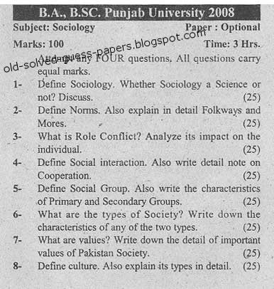 Sociology Paper?