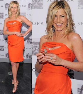 Orange Kleid im Sommer Mode 2013