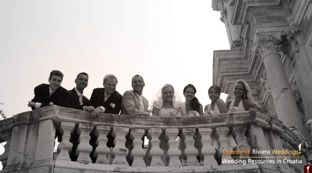 A wedding ceremony at the St.Ignatius Church in Dubrovnik