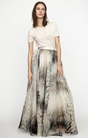 falda larga estampada H&M colección Conscious Exclusive 2015