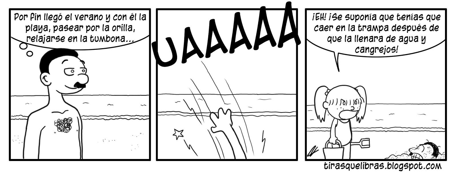 webcomic, jen se va a la playa