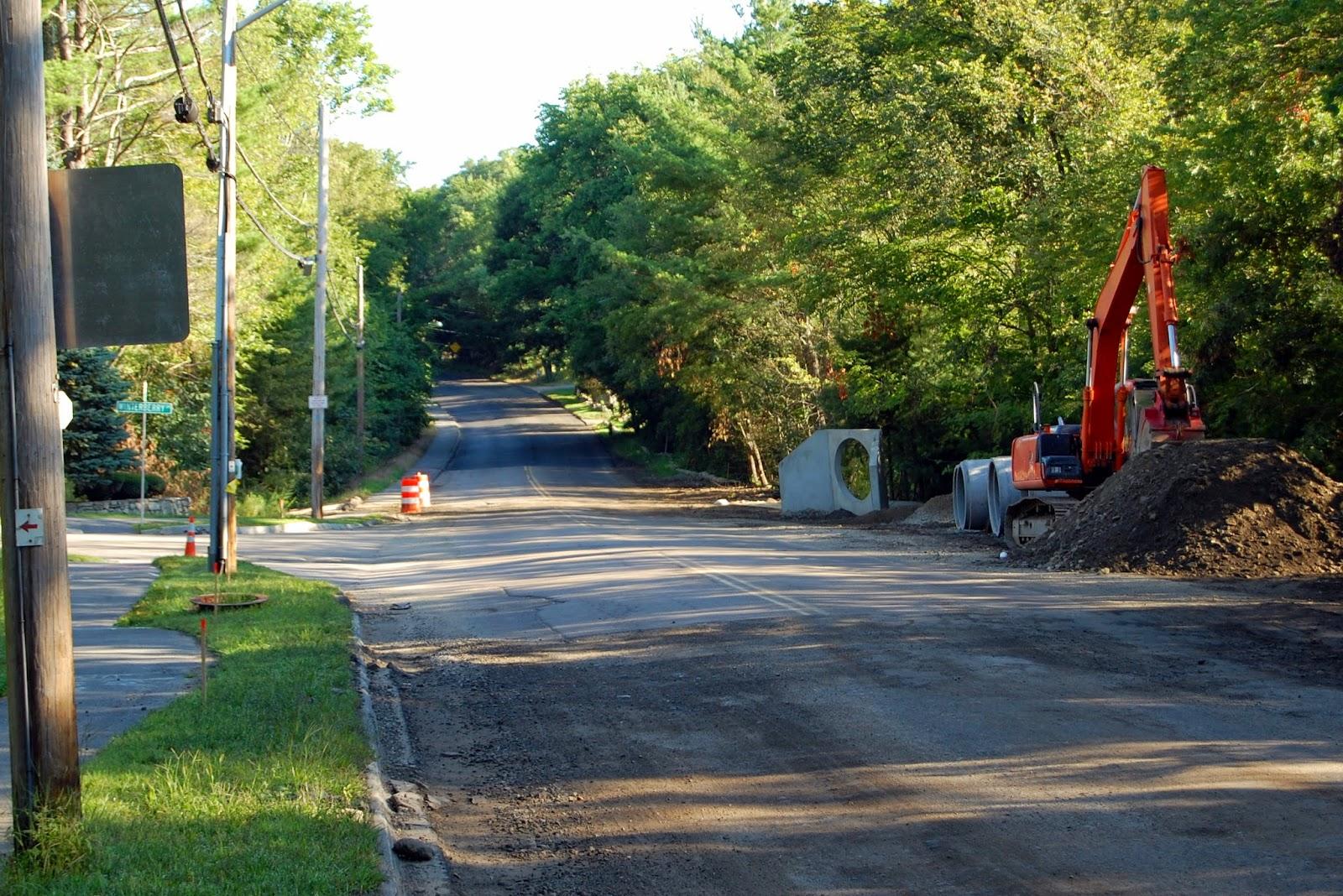 culvert work near Winterberry