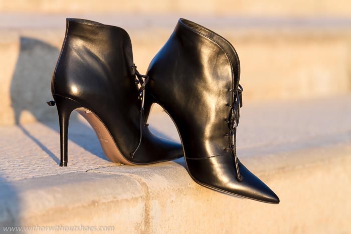 Zapatos que se llevan esta temporada Botines de punta afilada con cordones y tacón Stiletto de la nueva Colección de Zapatos de Magrit Otoño Invierno 2015 Made in Spain