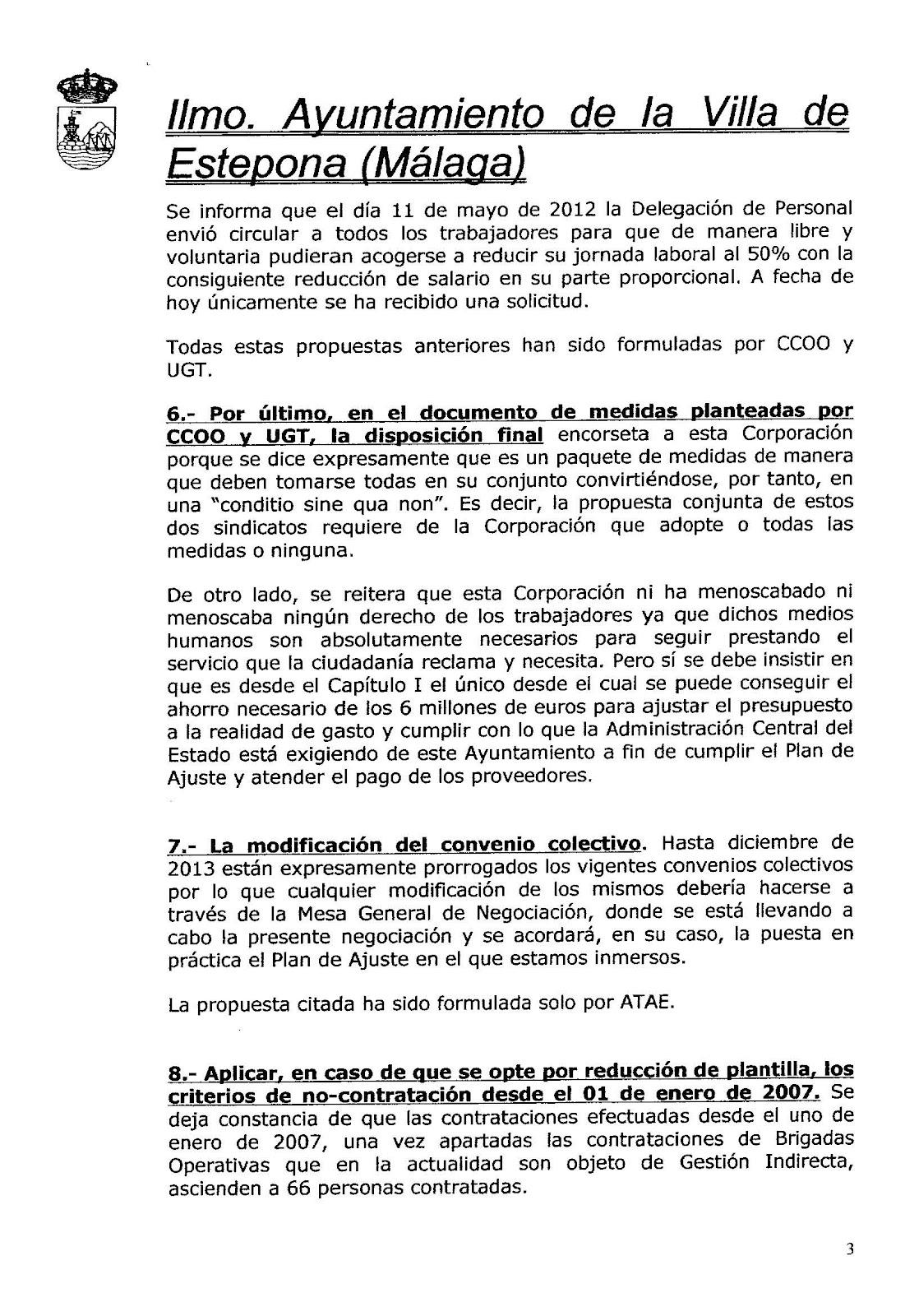 Secciones Sindicales de CC.OO. en el Ayuntamiento de Estepona ...