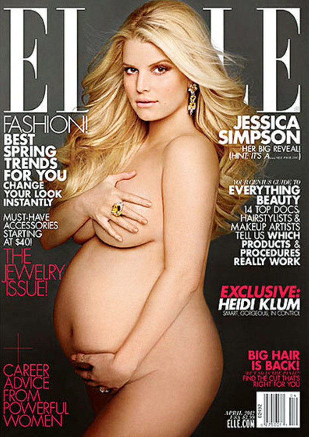 Jessica Heavy With The St Baby On Elle Magazine