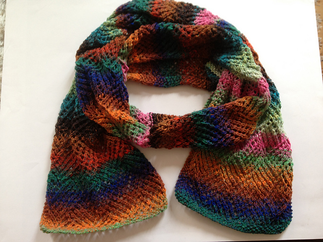 Gridwork Knitting Pattern : ergahandmade: Knit Scarf + Free Pattern + Diagram