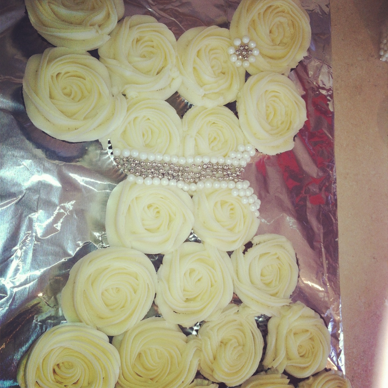 Cakes by Savannah Wedding dress cupcakes