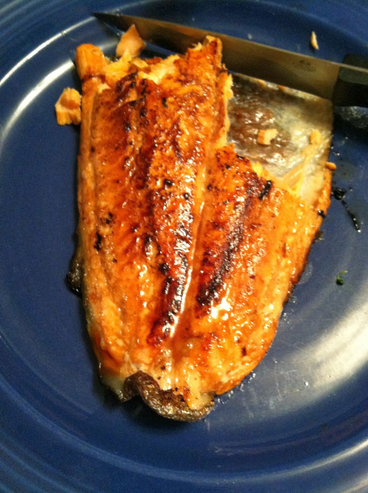 Simple Pan Seared Salmon with Ginger Soy Marinade. #seafood