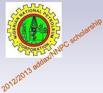 2012/2013 addax/NNPC scholarship