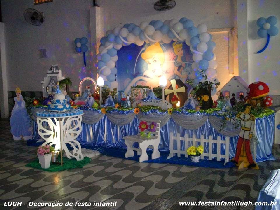 Tema Cinderela para decoração de festa de aniversário infantil
