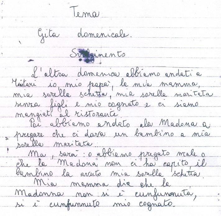 Favoloso Tema di un bambino sicilianoahahaha!!! troppo forte FP74