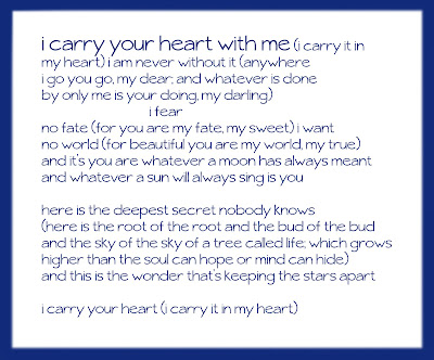 I Carry Your Heart By Ee Cummings A Poem For Every Day  Dinocroinfo Free Ee Cummings Essays And Papers Helpmecom