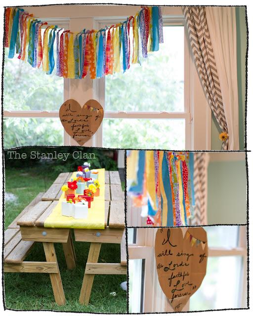 Fabric Garland, party decor rainbow garland