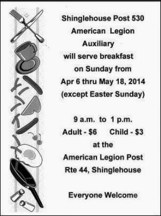 4-27 Breakfast At Shinglehouse Post 530