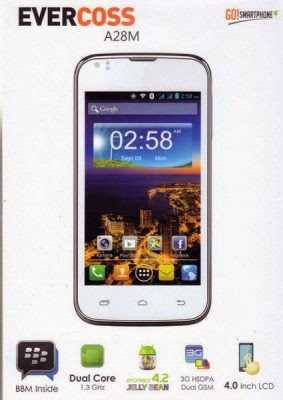 Harga EverCoss A28M, HP Android Murah dan Spesifikasi