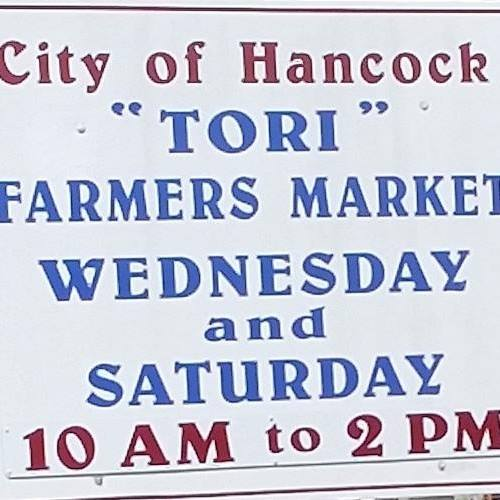 Hancock Tori farmers' market is open Wednesdays, Saturdays