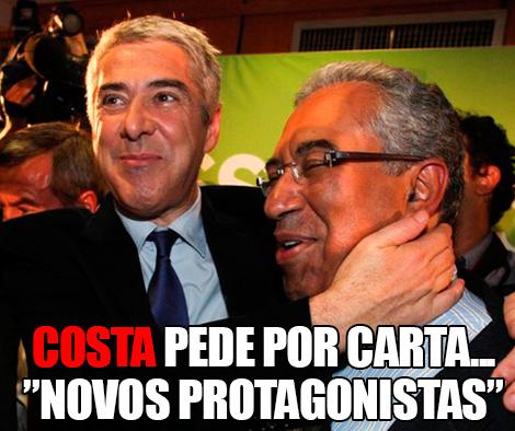 "Costa pede por carta... ""Novos Protagonistas"""