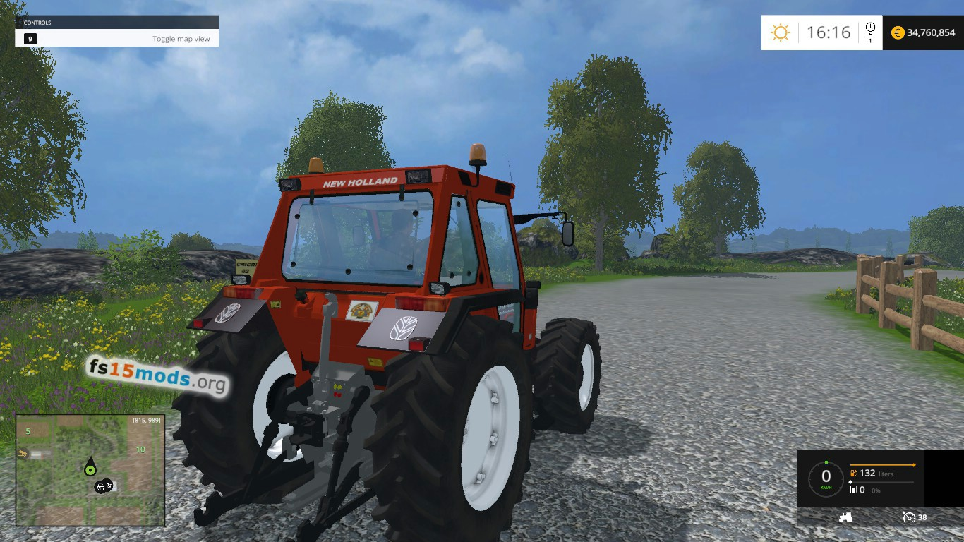 New holland 110 90 dt tractor fs15 mods